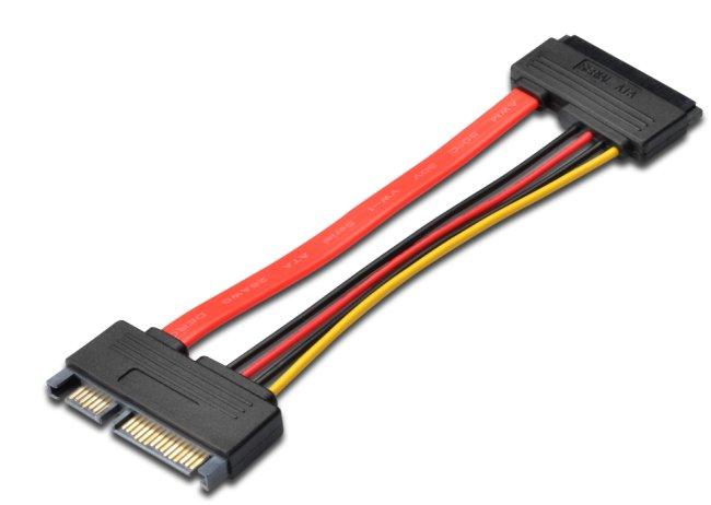 Prodlužovací SATA 22pin, data + napájení, 15cm - kfsa-22