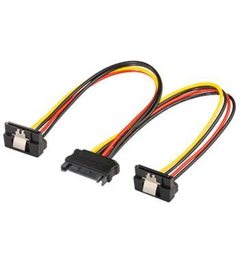 PremiumCord  Napájecí rozdvojka k HDD SATA - 2x SATA zalomený 90° - kfsa-23