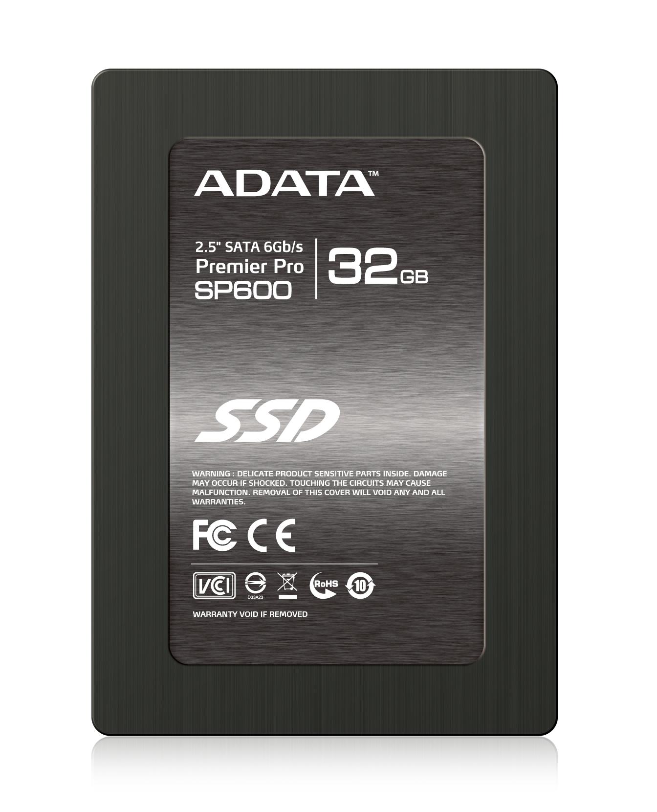 ADATA SSD SP600 32GB 2.5'' SATA III 220/37MB/s