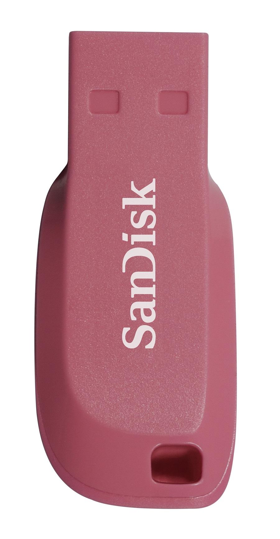 SanDisk Cruzer Blade 64GB USB2.0 elektricky růžová
