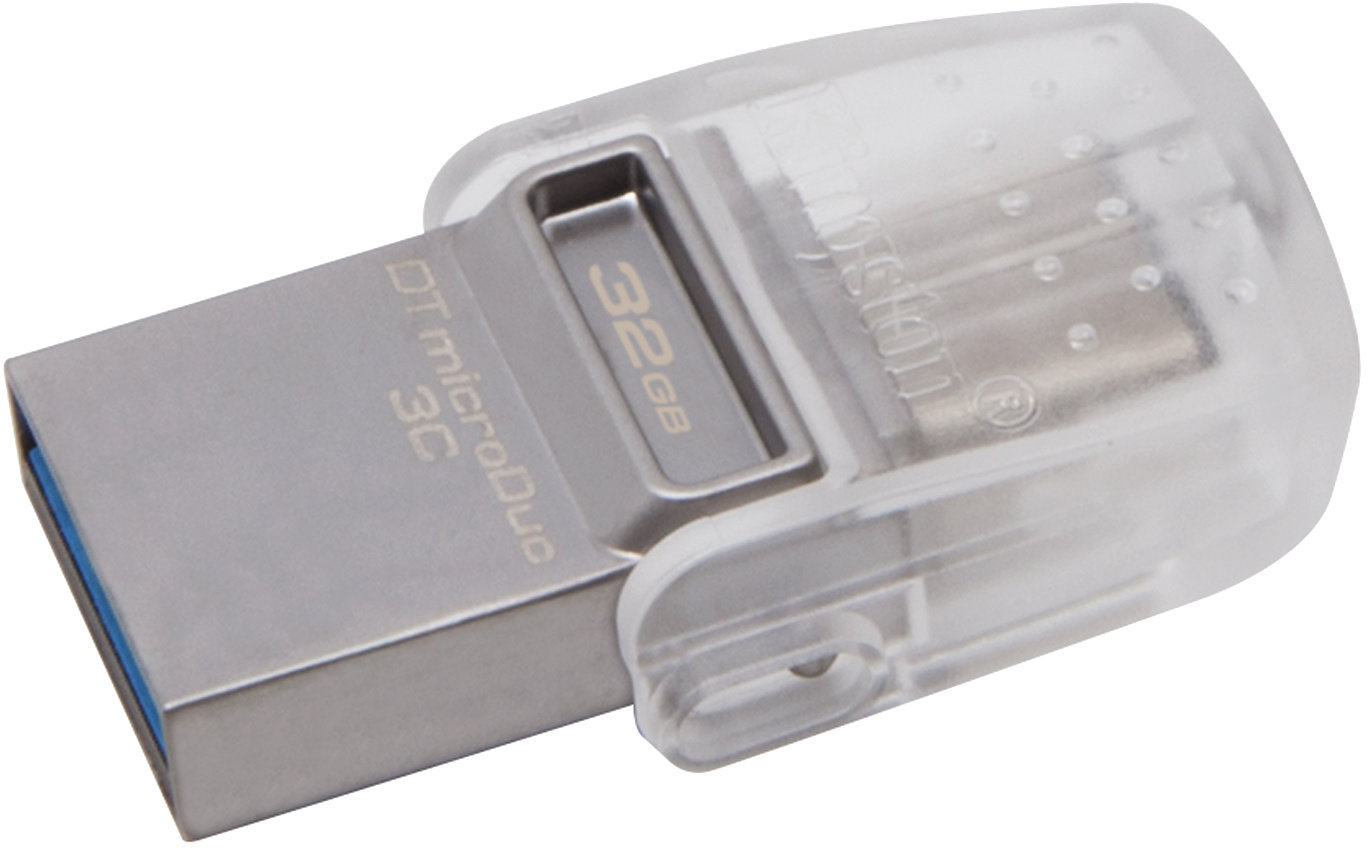 32GB Kingston DT microDuo 3C, USB 3.0/3.1 + Type-C - DTDUO3C/32GB