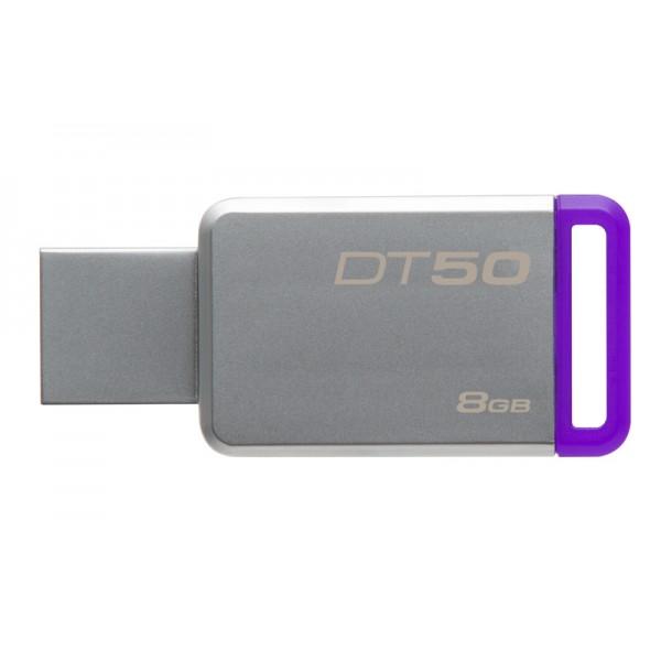 8GB Kingston USB 3.0 DT50 kovová růžová