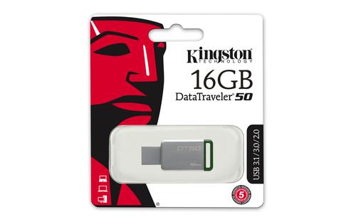16GB Kingston USB 3.0 DT50 pro potisk blistr