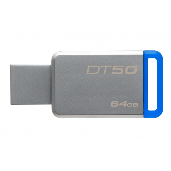 64GB Kingston USB 3.0 DT50 kovová modrá