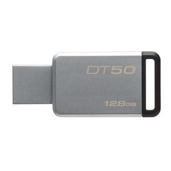 128GB Kingston USB 3.0 DT50 kovová černá