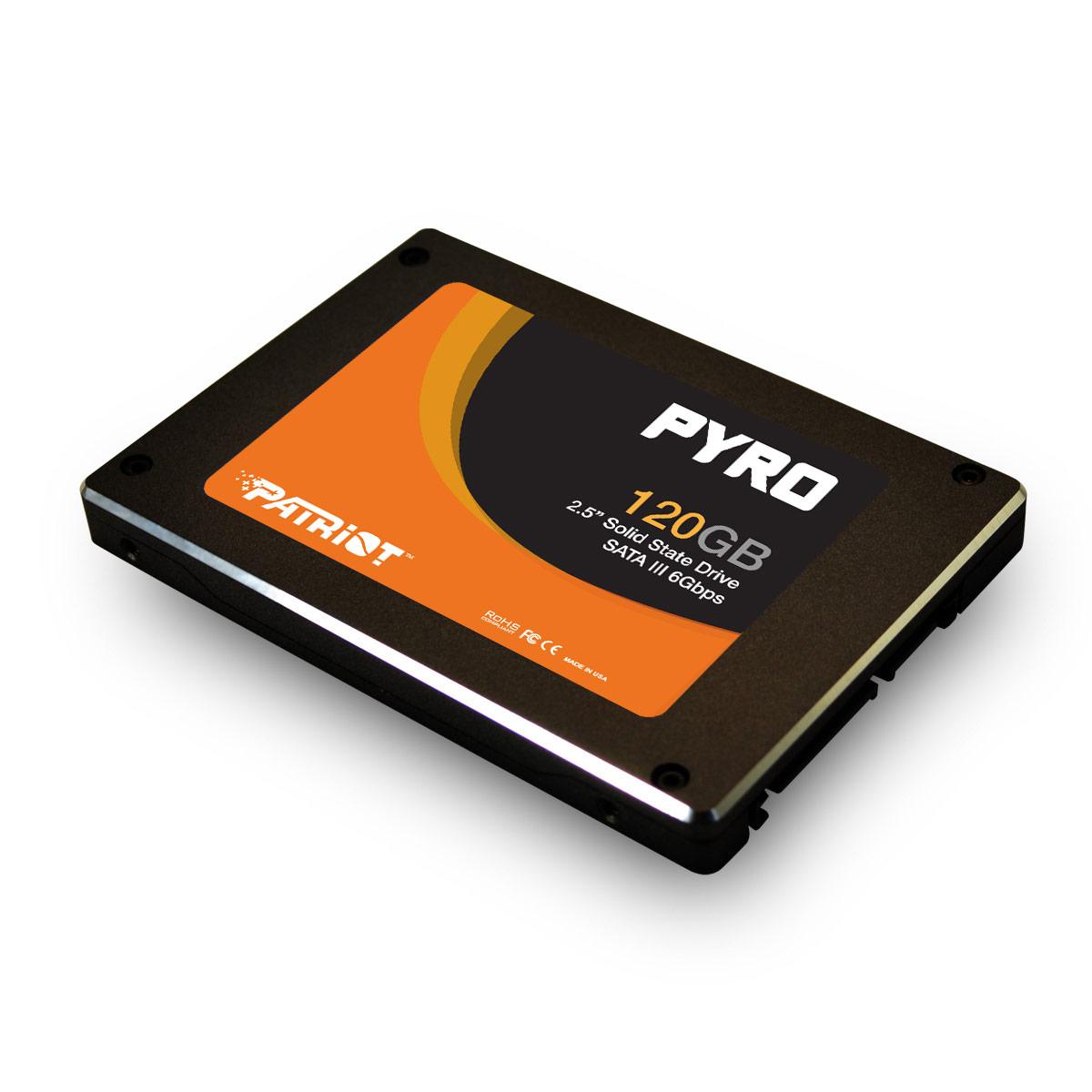 SSD 120GB PATRIOT PYRO  550/530MBs 85K