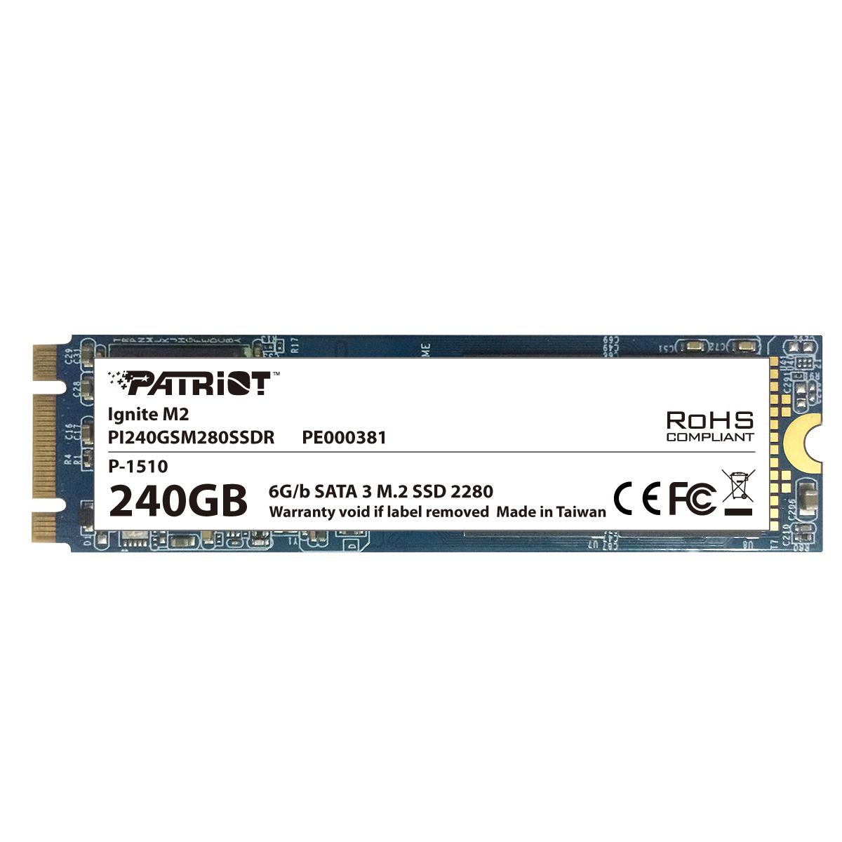 SSD 240GB PATRIOT Ignite  M.2 2280 SATA 3 560/320MB/s 90K