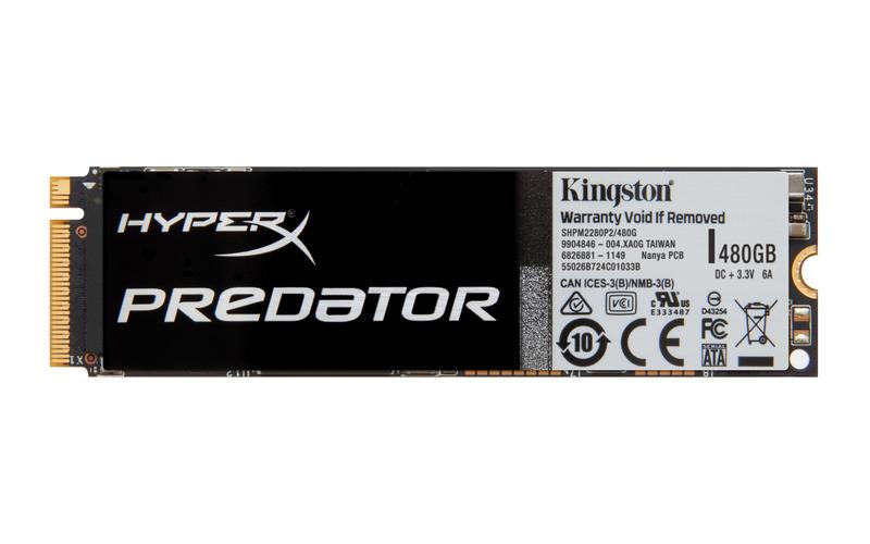 480GB HyperX Predator M.2 x4 2280  SSD s PCIe Gen2 x4 pouze M.2 SATA