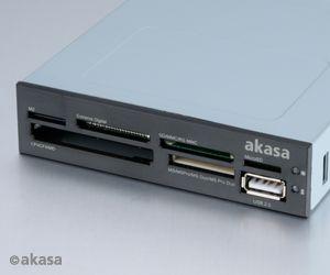AKASA int. USB 2.0 interní čtečka karet + USB 2.0 - AK-ICR-07