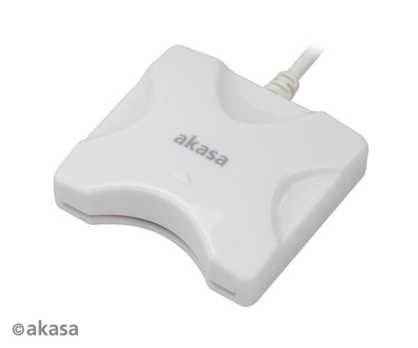 AKASA externí čtečka Smart karet - bílá - AK-CR-03WHV2