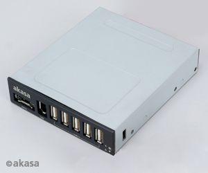 AKASA USB hub USB 2.0 + eSATA + IEEE1394 - interní - AK-ICR-08