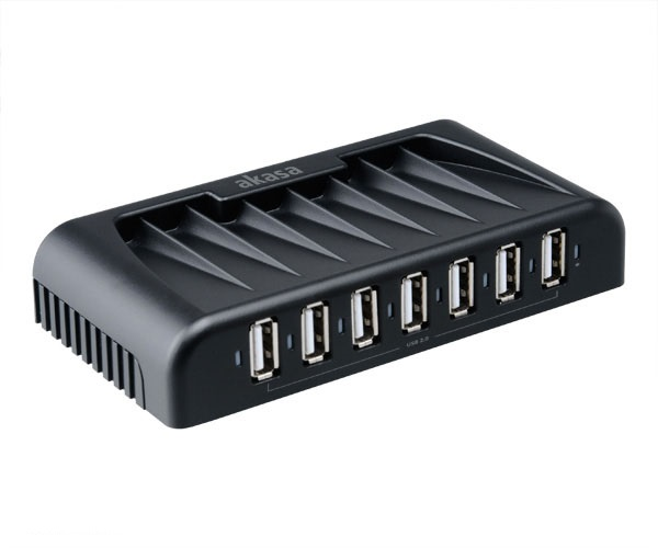 AKASA USB hub 2.0 Connect 7+ - AK-HB-09BKEU
