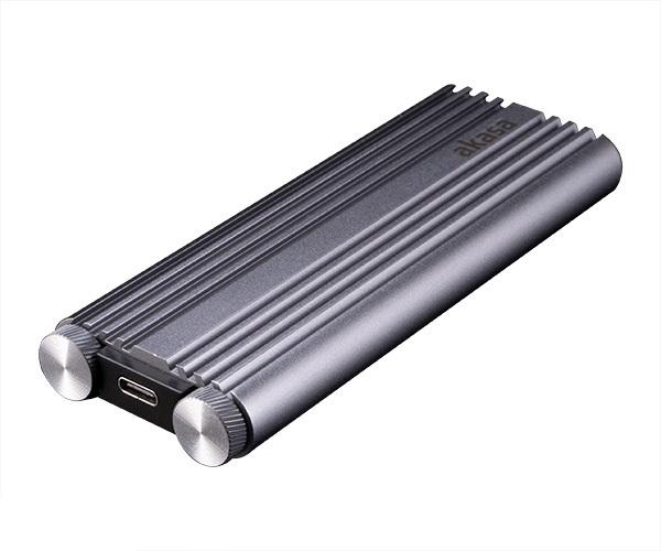 AKASA M.2 PCIe NVMe SSD na USB 3.2 Gen 2 Alu kryt - AK-ENU3M2-07