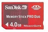 4GB SanDisk Memory Stick Pro Duo Gaming (Sony PSP)