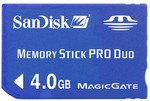4GB SanDisk Memory Stick Pro Duo