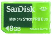 8GB SanDisk Memory Stick Pro Duo Gaming (Sony PSP)