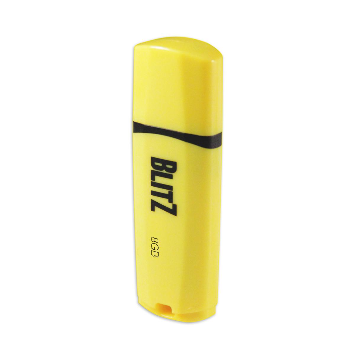 8GB Patriot Blitz USB 3.0 žlutý, LED