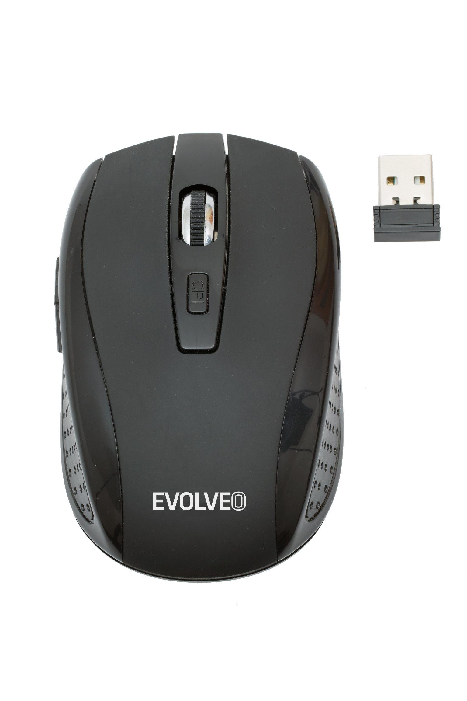 EVOLVEO WML-242B  bezdrátová myš, 1600DPI, 2.4GHz