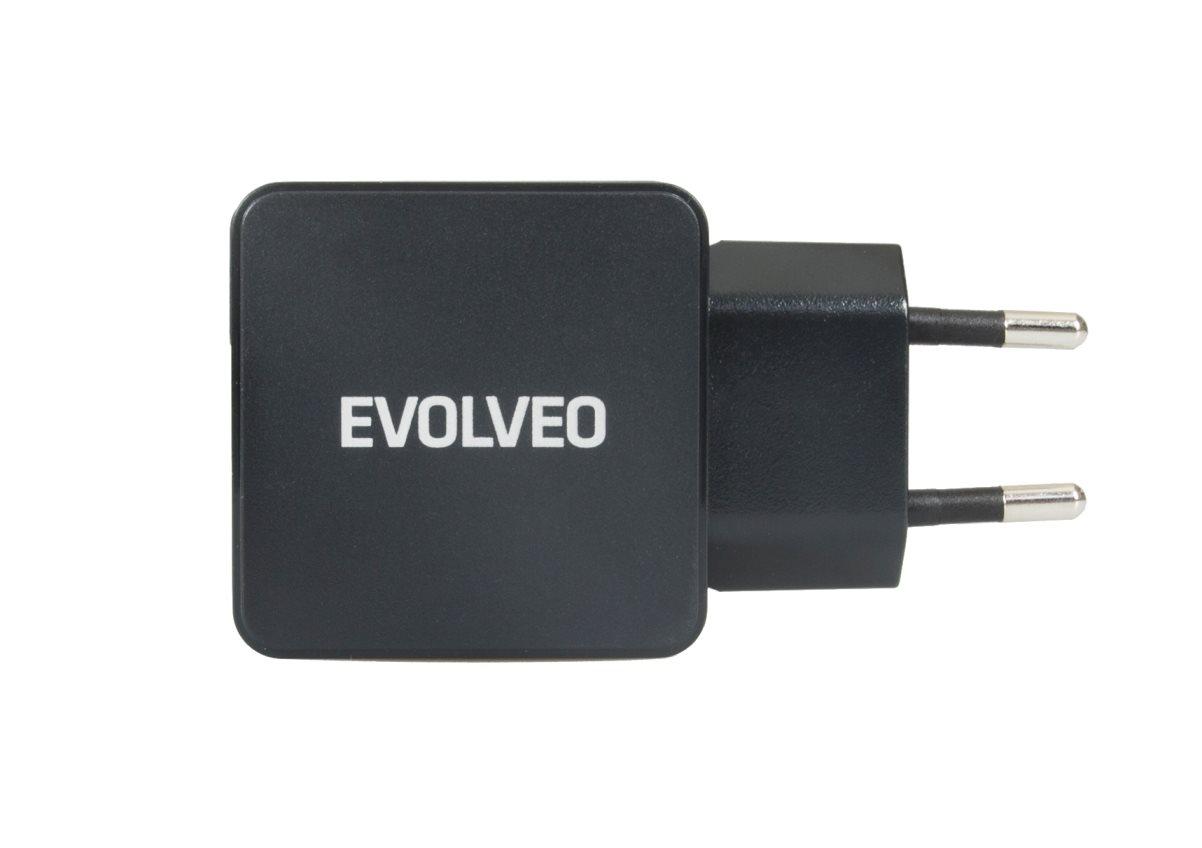 EVOLVEO MX500, rychlá USB nabíječka 230V