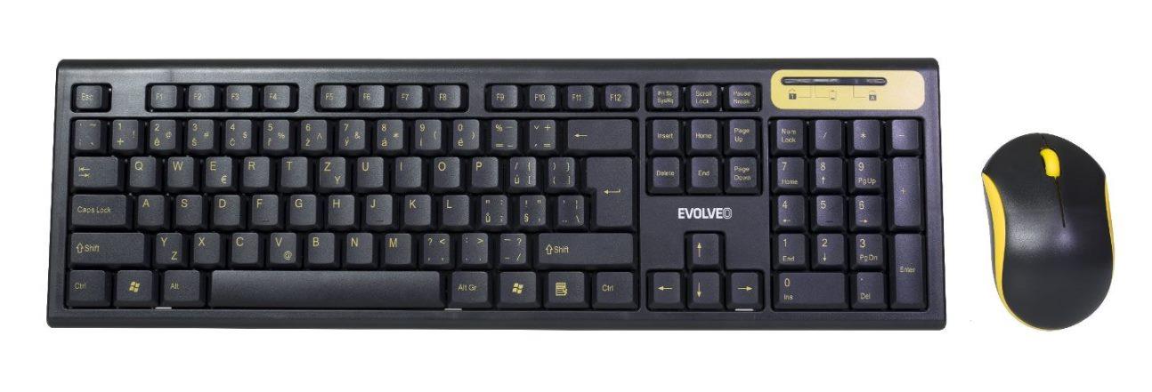 EVOLVEO WK-160, set bezdr. klávesnice a myši - WK-160
