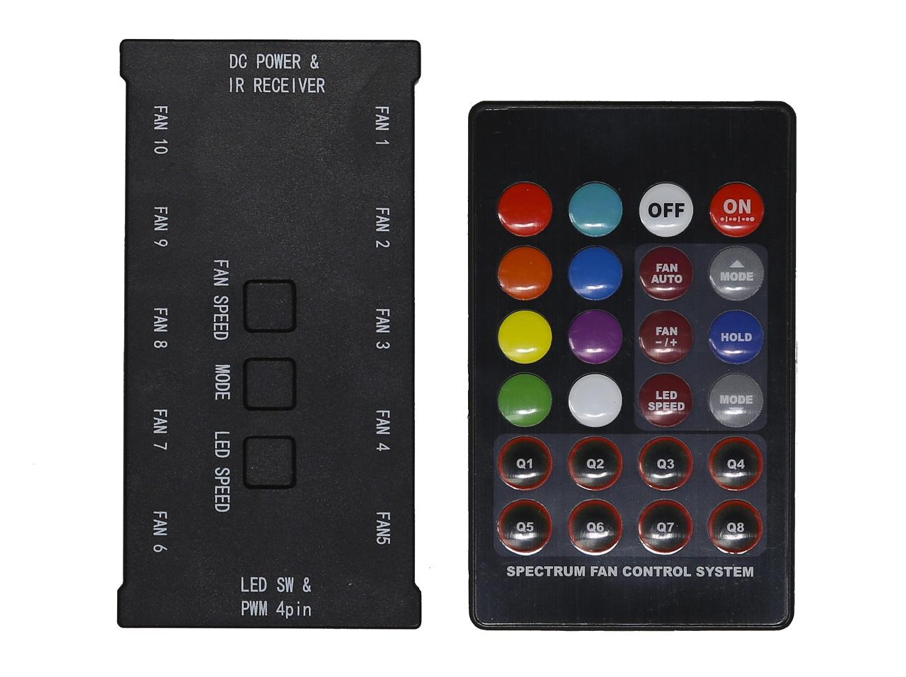 EVOLVEO C1 5V, RGB FAN řadič pro ventilátor 12R1R + dálkový ovladač