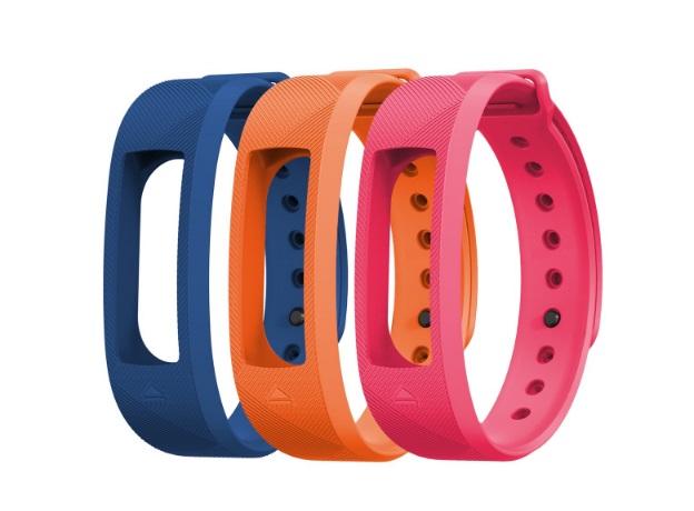 EVOLVEO FitBand B2, náhradní barevné pásky, 1x modrá, 1x oranžová a 1x růžová barva