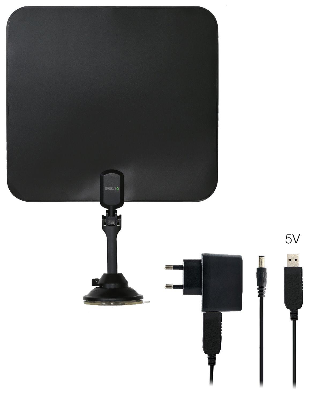EVOLVEO Xany 2C LTE 230/5V, 41dBi aktivní pokojová anténa DVB-T/T2, LTE filtr - tdexany2C