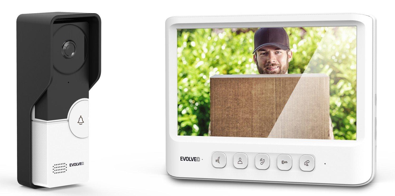 EVOLVEO DoorPhone IK06, set video dveřního telefonu s pamětí a barevným displejem - DPIK06-W