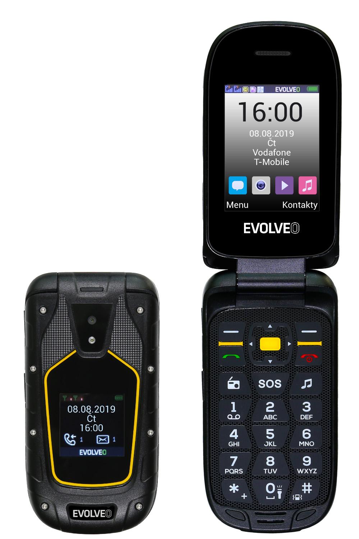 EVOLVEO StrongPhone F5, vodotěsný odolný Dual SIM telefon