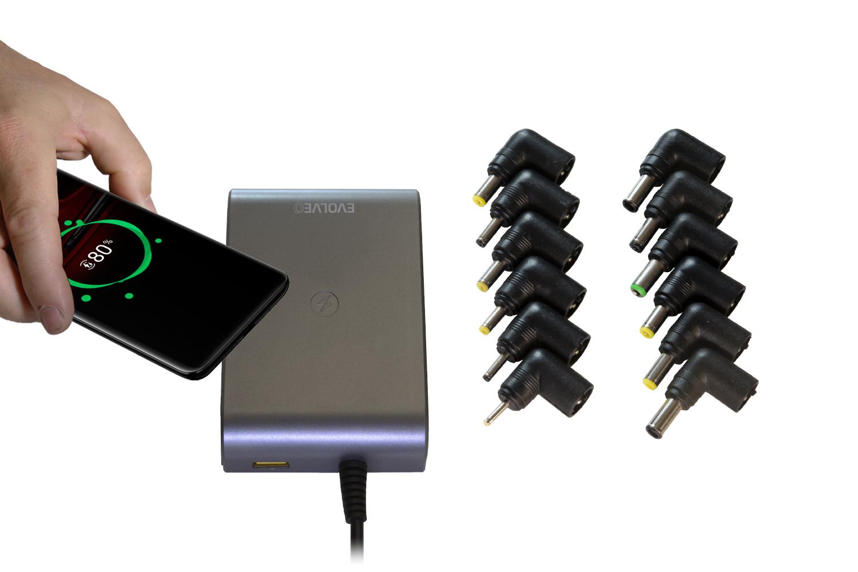 EVOLVEO Chargee C90,  90W napájecí zdroj pro notebooky s beztrátovým nabíjením - Chargee C90
