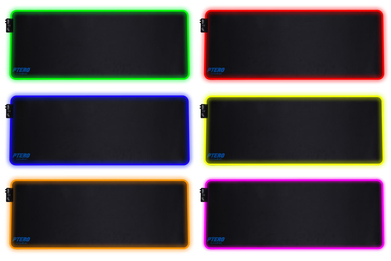 EVOLVEO Ptero GPX200 XL RGB, RGB herní podložka