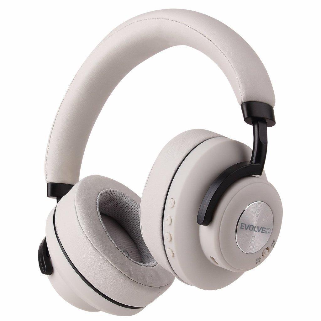 EVOLVEO SupremeSound 4ANC, bezdrátová sluchátka s ANC šedá - SD-4ANC-GR