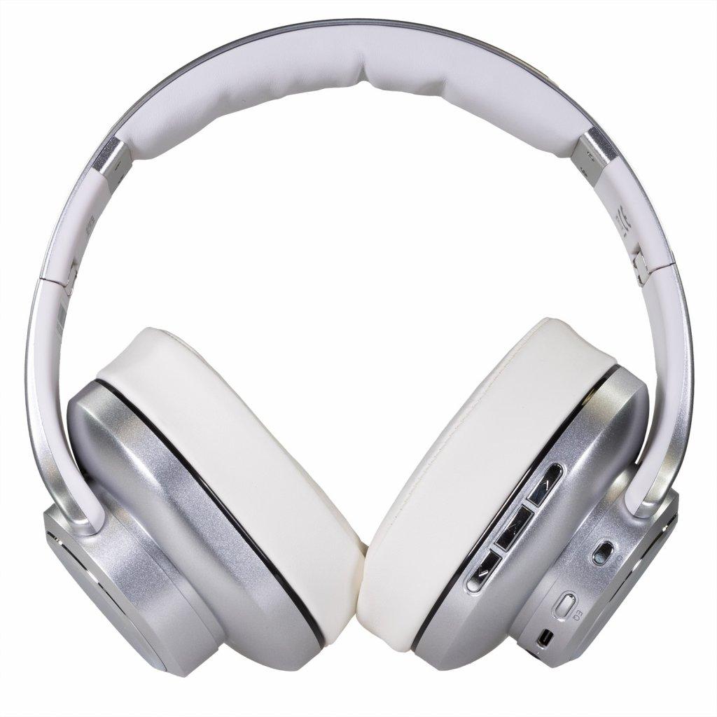 EVOLVEO SupremeSound 8EQ, Bluetooth sluchátka s reproduktorem a ekvalizérem 2v1, stříbrné - SD-8EQ-SL