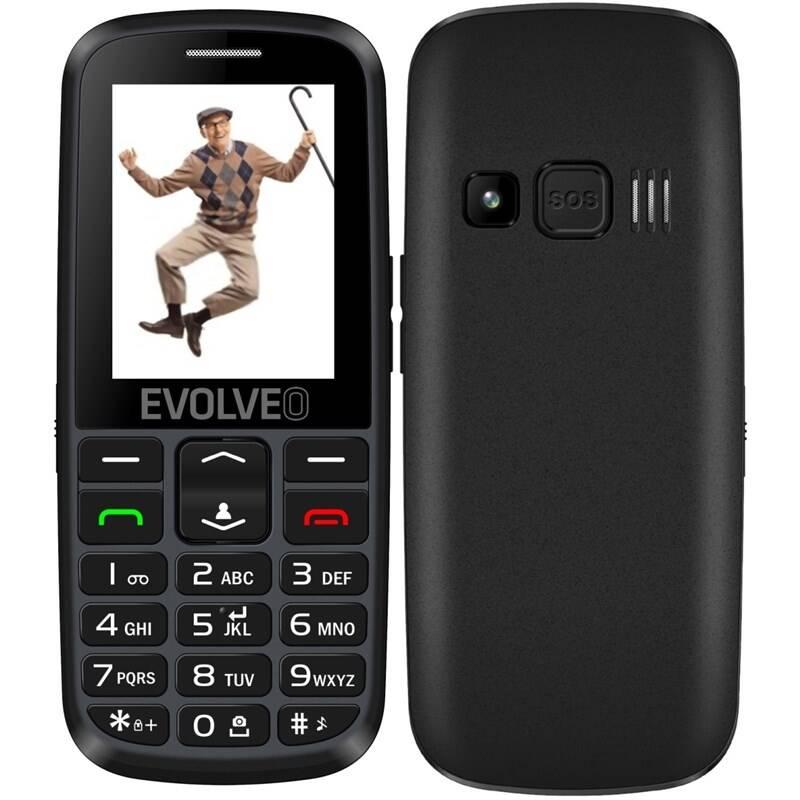 EVOLVEO EasyPhone EG, mobilní telefon pro seniory s nabíjecím st