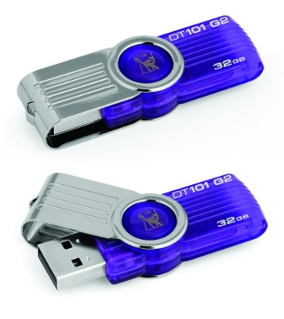 32GB Kingston USB DataTraveler 101 Gen 2 fialový