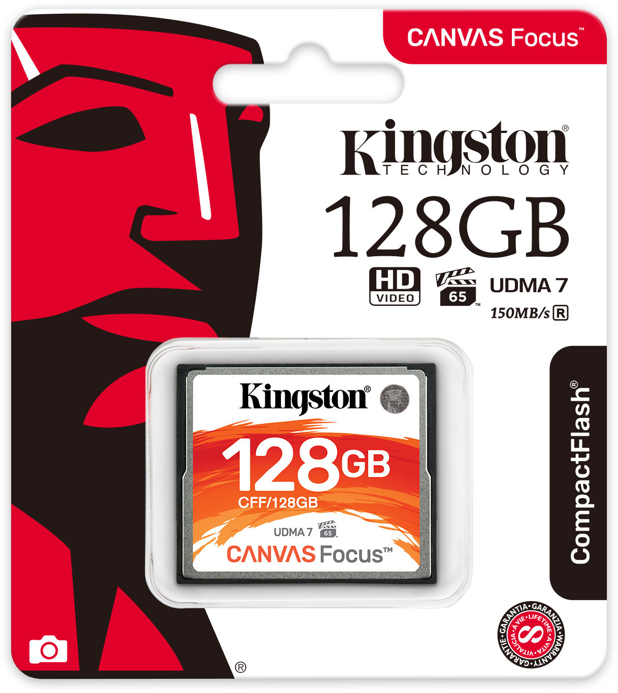 128GB CompactFlash Canvas Focus Kingston