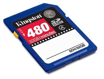32GB Secure Digital SDHC Video card Kingston 480mi