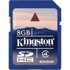 8GB Secure Digital SDHC Kingston - class 4