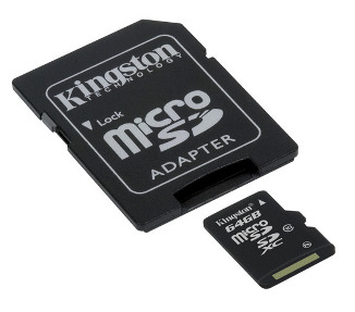 64GB Micro SDXC Kingston - class 10