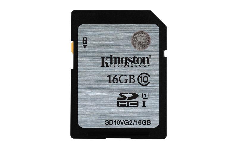 16GB karta SDHC Kingston UHS-I class 10 čtení 45MB/s