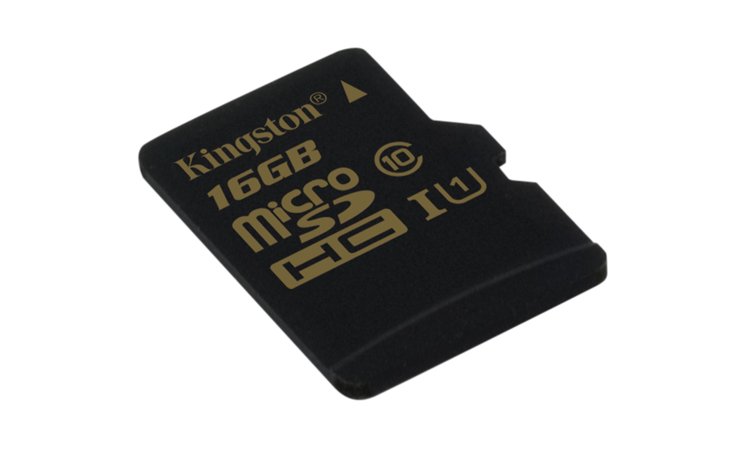 16GB microSDHC UHS-I Kingston class 10 (bez adapt)