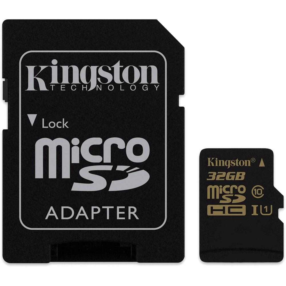 32GB microSDHC UHS-I Kingston 90R/45W class 10