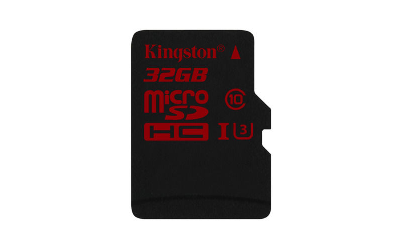 32GB microSDHC Kingston U3 90R/80W bez adapteru