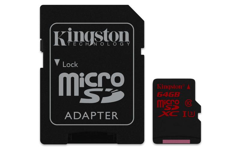 64GB microSDXC Kingston U3 90R/80W