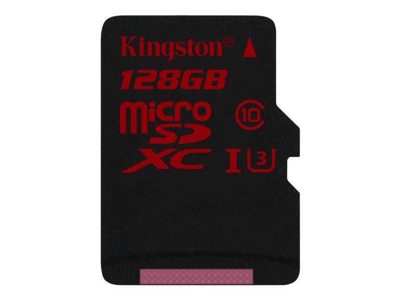 128GB microSDXC Kingston UHS-I Class U3 90MB/s read, 80MB/s write + bez adapteru