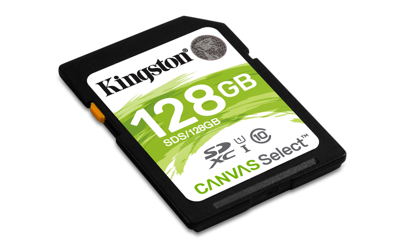 128GB SDXC Kingston Canvas Select CL10 UHS-I 80R