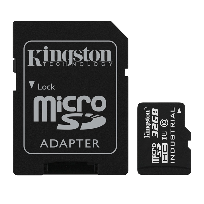 32GB microSDHC Kingston UHS-I Industrial Temp + SD adapter