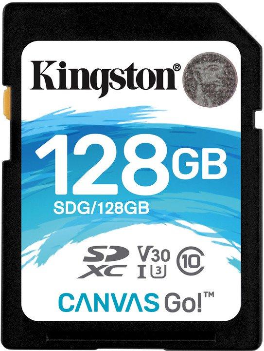 128GB SDXC Kingston Canvas Go U3 V30 90R/45W
