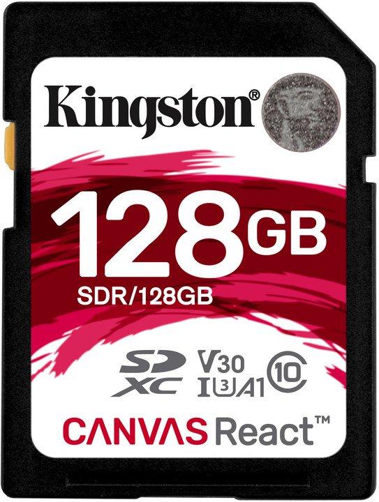 128GB SDXC Kingston Canvas React U3 V30 A1 100R/70W