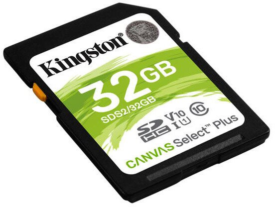 32GB SDHC Kingston Canvas Select Plus U1 V10 CL10 100MB/s - SDS2/32GB